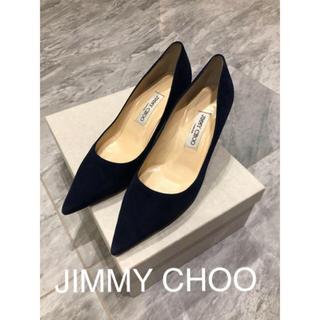 JIMMY CHOO - 美品 ジミーチュウ  パンプス  38 ネイビー