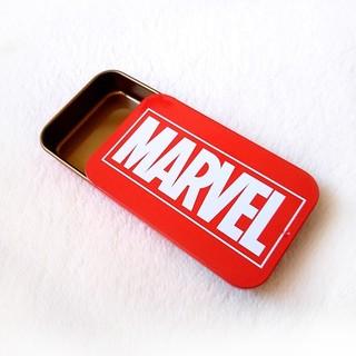 MARVEL - MARVEL スライド缶ケース マーベル ロゴ 小物入れ