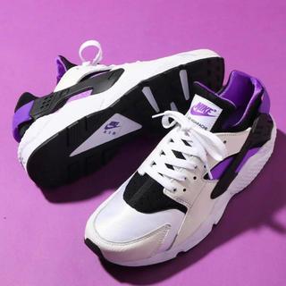 ナイキ(NIKE)のNIKE AIR HUARACHE RUN '91 QS 25 新品 紫(スニーカー)