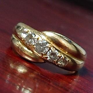 K18  ダイヤモンド  リング  大粒  (リング(指輪))