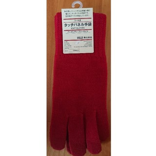 ムジルシリョウヒン(MUJI (無印良品))の[再値下げ] タッチパネル手袋 (バーガンディ)(手袋)