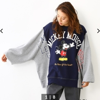 RODEO CROWNS WIDE BOWL - RODEOCROWNS×Disneyコラボ  ミッキーリメイクビッグスウェット