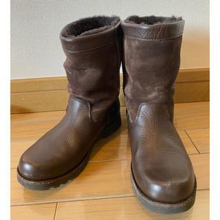 アグ(UGG)のUGG 22cm USA4✳︎スエード×レザーミドルブーツ✳︎ジャーナル イエナ(ブーツ)