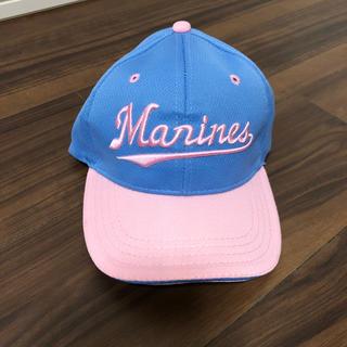 チバロッテマリーンズ(千葉ロッテマリーンズ)の新品 子供用 キャップ 55cm(帽子)