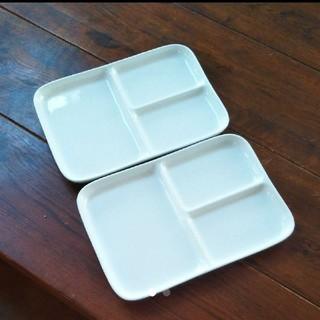 ムジルシリョウヒン(MUJI (無印良品))の無印良品 角型プレート2枚セット(食器)