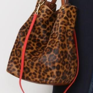 DEUXIEME CLASSE - BAGS IN PROGRESS レオパード柄ハラコ トートバッグ