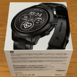 マイケルコース(Michael Kors)の【未使用】MICHAEL KORS RUNWAY MKT5058 ブラック(腕時計(デジタル))