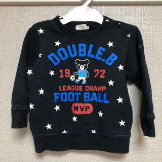 DOUBLE.B - 【送料無料】ダブルビー  黒トレーナー 90