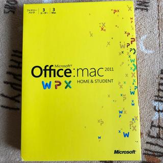 マイクロソフト(Microsoft)のオフィスマック2011(PC周辺機器)