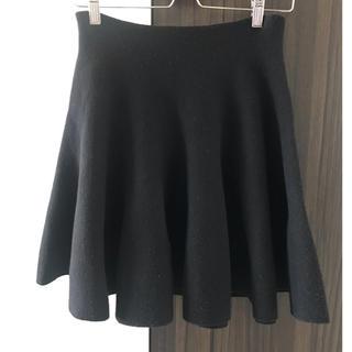 バーニーズニューヨーク(BARNEYS NEW YORK)のフレアスカート ブラック(ひざ丈スカート)