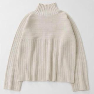 moussy - リブハイネックセーター