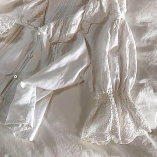 エディットフォールル(EDIT.FOR LULU)のZARA ♡ ヴィンテージ レース刺繍ブラウス(シャツ/ブラウス(長袖/七分))