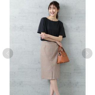 ナチュラルビューティーベーシック(NATURAL BEAUTY BASIC)のチェックタイトスカート(ひざ丈スカート)