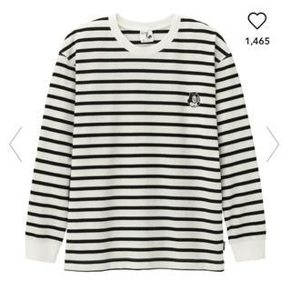 GU - ジーユー GU FELIX ビッグT 長袖 ボーダー Tシャツ