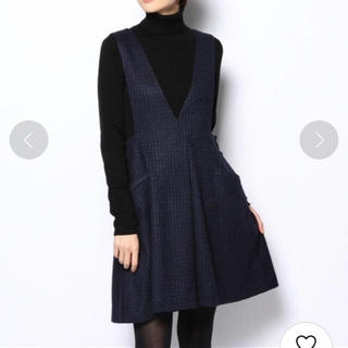 IENA - IENA グリッターチェック ジャンバースカート