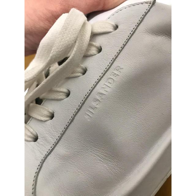 Jil Sander(ジルサンダー)のジルサンダー スニーカー 白 ホワイト jil sander 41 メンズの靴/シューズ(スニーカー)の商品写真