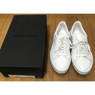 ジルサンダー(Jil Sander)のジルサンダー スニーカー 白 ホワイト jil sander 41(スニーカー)