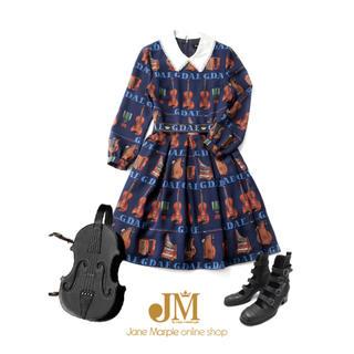 JaneMarple - Jane marple ジェーンマープル バイオリン ワンピース 紺色