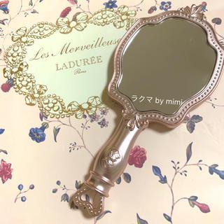LADUREE - 未使用 ハンドミラー ピンク LADUREE