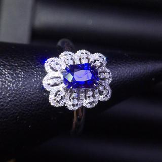 (天使の指輪)天然コーンフラワー サファイア ダイヤモンド リング(リング(指輪))