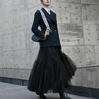 ザラ(ZARA)のボリュームチュールスカート チュール スカート ブラック(ロングスカート)