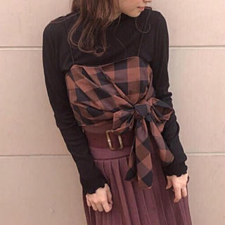 one after another NICE CLAUP - 新品 NICE CLAUP チェックビスチェ+インナーSET ♡
