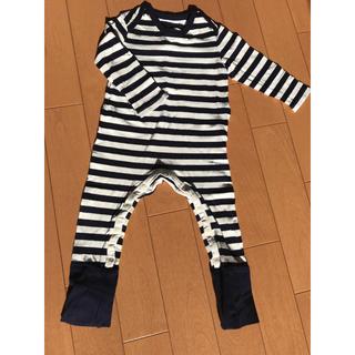 ムジルシリョウヒン(MUJI (無印良品))の無印良品  ベビー 長袖カバーオール  70〜80サイズ(カバーオール)