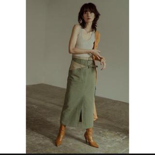 beautiful people - Bi-color Cross Belt Skirt スカート