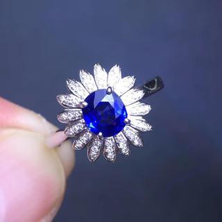 (天使の指輪)天然ブルーサファイア ダイヤモンド リング(リング(指輪))
