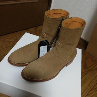 アンユーズド(UNUSED)のUNUSED ブーツ スエード ベージュ 25cm 定価63000(ブーツ)