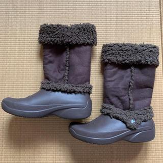 クロックス(crocs)のクロックス ブーツ W8  ブラウン(ブーツ)