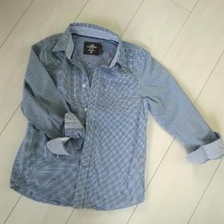 エイチアンドエム(H&M)のH&M ギンガムチェック シャツ 120~130(ブラウス)