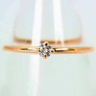 K10ピンクゴールド ダイヤモンド リング 7号[g99-1] (リング(指輪))