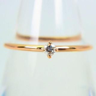 K10ピンクゴールド ダイヤモンド リング 11号[g99-3] (リング(指輪))