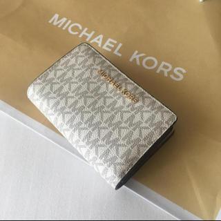 Michael Kors - 新品 MICHAEL KORS マイケルコース 折り財布 バニラ