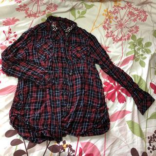 ドスチ(Dosch)のDOSCH    ビジュー付きチェックシャツ(シャツ/ブラウス(長袖/七分))