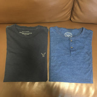 アメリカンイーグル(American Eagle)の【アメリカ購入品】アメリカンイーグル ロゴTシャツ メンズ クルーネック(Tシャツ/カットソー(半袖/袖なし))
