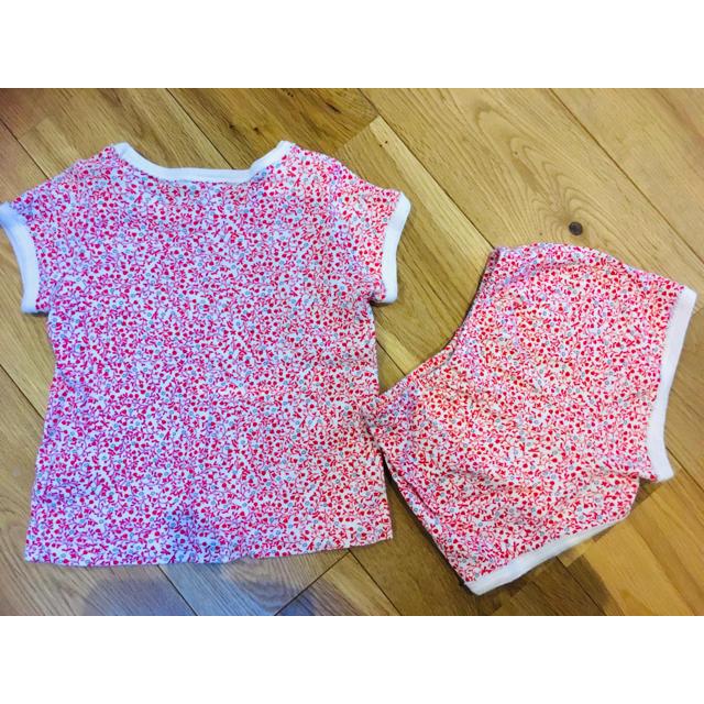 PETIT BATEAU(プチバトー)のセットアップ プチバトー 女の子 キッズ/ベビー/マタニティのベビー服(~85cm)(Tシャツ)の商品写真