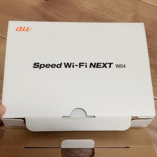 エーユー(au)のAU SPEED WIFI NEXT WO4 WIMAX 2+(その他)