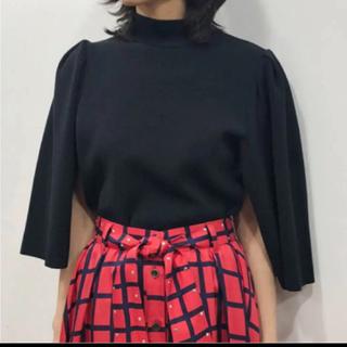バーニーズニューヨーク(BARNEYS NEW YORK)のアキラナカ ベルテッドチェック柄 スカート 2019aw(ひざ丈スカート)