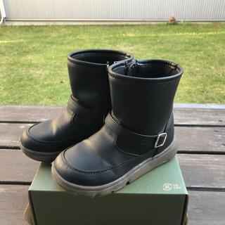 ムーンスター(MOONSTAR )の男の子 女の子 ムーンスター キャロット黒ブーツ18cm キッズブーツ 黒ブーツ(ブーツ)