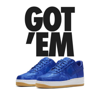 ナイキ(NIKE)のAIR FORCE 1 LOW CLOT BLUE SILK(スニーカー)