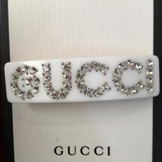 Gucci - GUCCI クリスタル シングル ヘアバレッタ