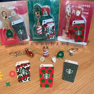 スターバックスコーヒー(Starbucks Coffee)のsnoopy様専用 クリスマス 台湾スターバックス キーホルダー ストラップ(キーホルダー)