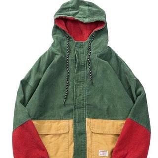 STUSSY - 三色 マルチカラー コーデュロイ ジャケット ストリート クレイジーカラー