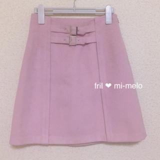 イートミー(EATME)のEATME ♡ イートミー ♡ フロント ダブルベルト 台形スカート (ミニスカート)