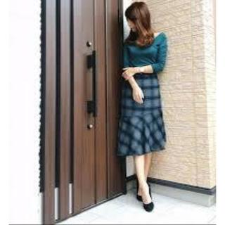 ジーユー(GU)のGU マーメイドスカート チェック(ひざ丈スカート)