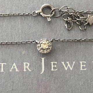 STAR JEWELRY - スタージュエリープラチナ950ダイヤモンドネックレス合計0.10ct