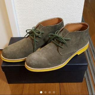 ビームス(BEAMS)のBEAMS メンズ靴 シューズ チェッカブーツ カーキ(ブーツ)