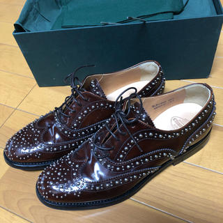 ドゥロワー(Drawer)のチャーチ  ブラウン  35 【美品】(ローファー/革靴)